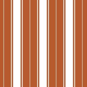 rust french stripe boat neck marine sailor nautical polo shirt multi stripe reversed vertical