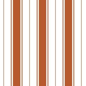rust french stripe boat neck marine sailor nautical polo shirt multi stripe vertical