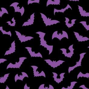 Pastel goth purple black bats - L