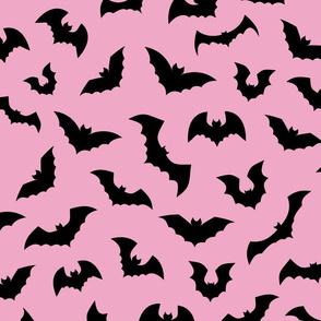 Pink Black Bats Pastel Goth - L