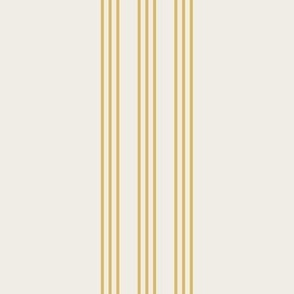 misted yellow on cream grain sack french country farmhouse ticking nine stripe 12 inches apart