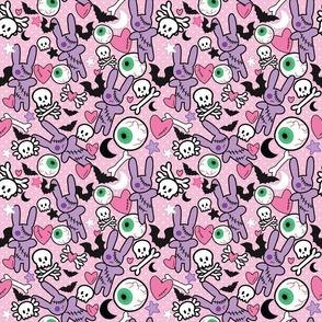 Pastel Goth Bunny Eyeball - M