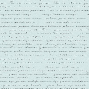 love letter with paper texture background