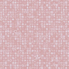 Scribble squares in mauve and lilac
