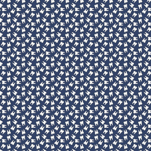 Small Ditzy Tooth Pattern on Navy Blue