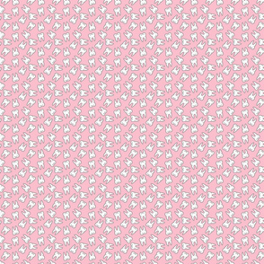 Small Ditzy Tooth Pattern on Pastel Pink