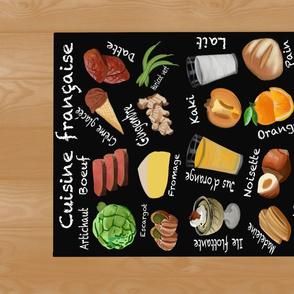 French Foods Alphabet Tea Towel
