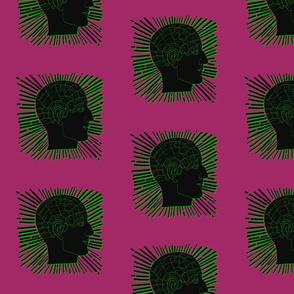 Phrenology green black pink