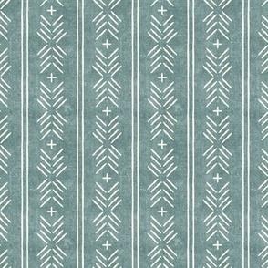 (small scale) mud cloth arrow stripes - dusty blue - mudcloth tribal - LAD19BS