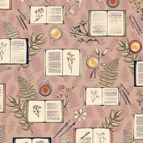 Hygge Botanical Sketchbooks in Raisin