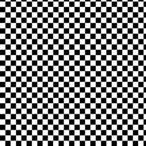 Checkers Black and White