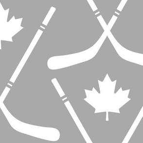 maple leafs toronto hockey sticks lg grey