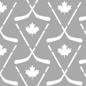 maple leafs toronto hockey sticks med grey