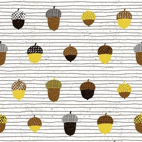 Acorns with lines