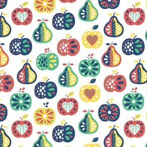 Apple and pear pattern