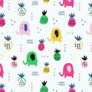 Elephants like pineapples