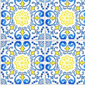Blooming Flowers - Portuguese Tiles