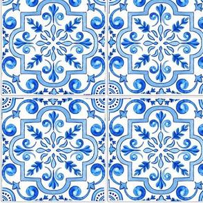 Elegant Blue Tiles