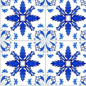 Azulejo tiles 29 with realistic ceramic texture