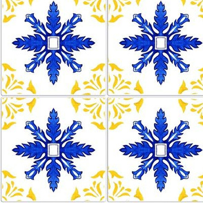 Azulejo tiles 30 with realistic ceramic texture