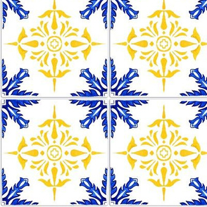 Azulejo tiles 31 with realistic ceramic texture