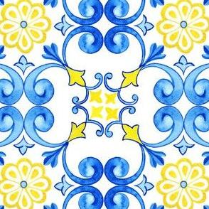 Azulejos Curles with realistic ceramic texture