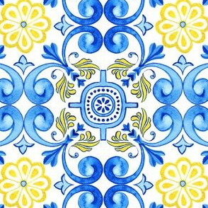 Mediterranean Curles with realistic ceramic texture