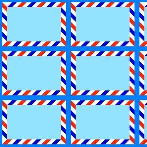 Sign An Envelope Quilt Panel - RWBlues