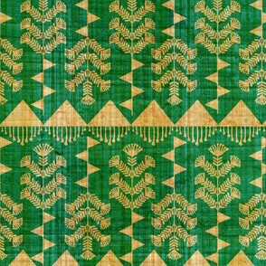 Indian Warli Floral_ green