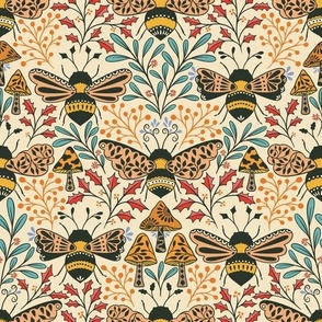 Carpe Diem Butterfly, Seize the Day, Motivational Forest Moth, blue night