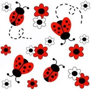 Red Ladybug Floral - Smaller