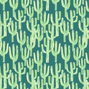 Packed Saguaros Teal