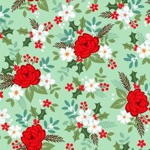 Christmas rose green
