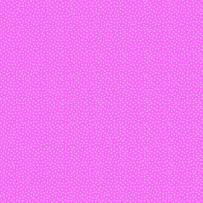 White 2 mm polka dots on pink ground