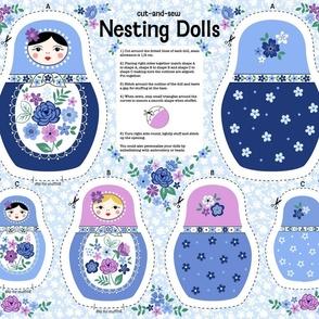 Nesting dolls cut and sew blue
