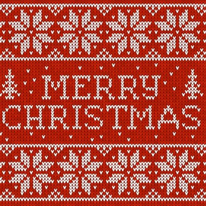 Merry christmas knit
