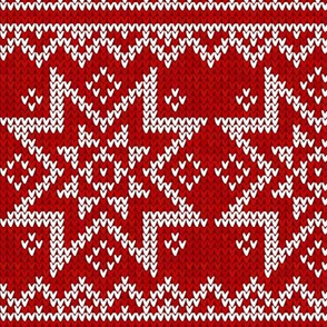 Red and white Christmas knit