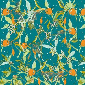Seville Citrus Tree - Deep Aquamarine