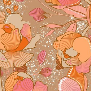 Magical Peony Chintz / Spring / Large scale