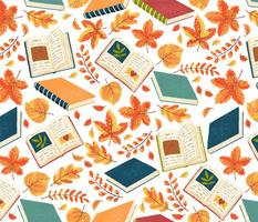 Autumn_Leaves_Books_Pattern