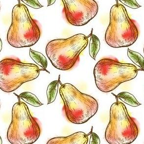 Ripe juicy pears