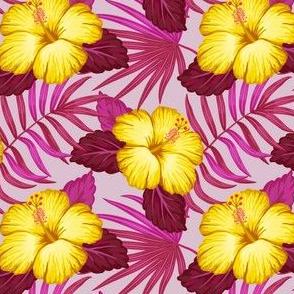 Tropical pattern - yellow purple
