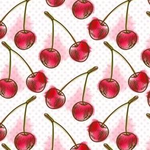 Ripe juicy cherry