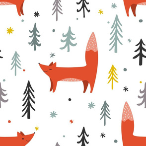 Foxes and Trees