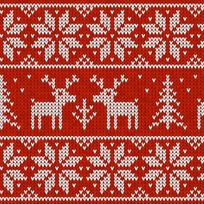Sweater with deers