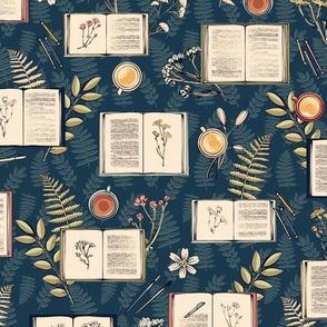 Hygge Botanical Sketchbooks in Peacock