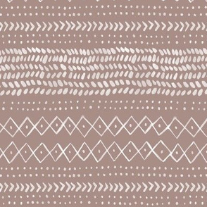 Boho Abstract in Pinkish Brown - small scale