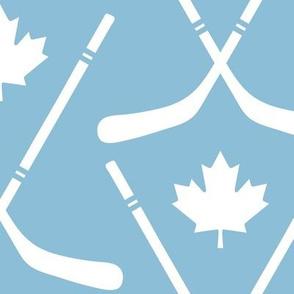 maple leafs toronto hockey sticks lg light blue