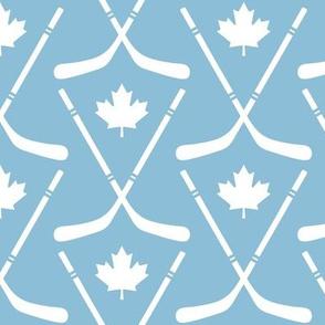 maple leafs toronto hockey sticks med light blue