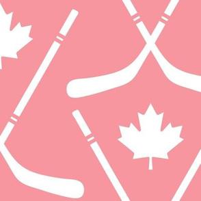 maple leafs toronto hockey sticks lg pink